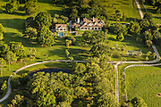 Aerial view of the Darby estate in Mount Pleasant, SC.