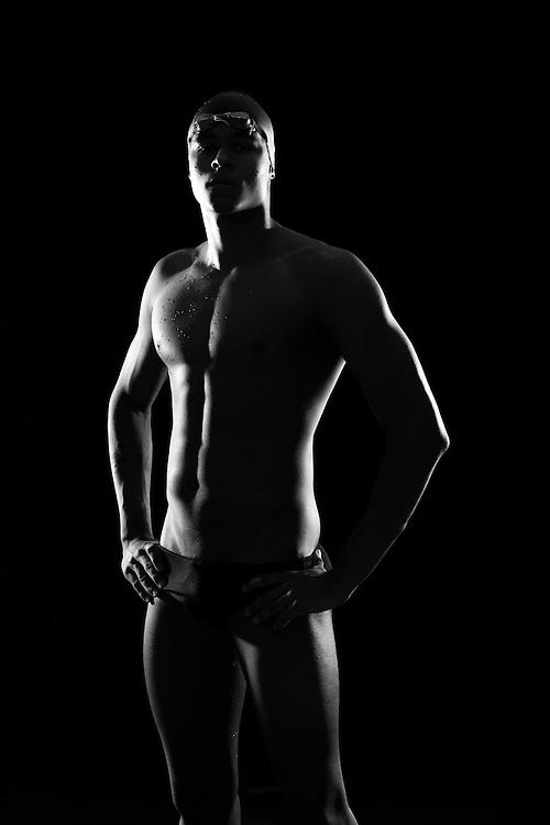 Santos, Brasil - September 24 of 2014: Matheus Santana, short distance freestyle swimmer, shot at UniSanta university, in Santos . photo: Caio Guatelli