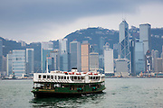Tourist pleasure cruiser in Hong Kong harbour, China