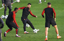 Sergio Aguero of Manchester City trains - Mandatory by-line: Matt McNulty/JMP - 31/10/2016 - FOOTBALL - City Football Academy - Manchester, England - Manchester City v Barcelona - UEFA Champions League - Group C