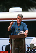 DYERSBURG, TN - August 31: US President Bill Clinton during a campaign stop on their bus tour August 31, 1996 in Dyersburg, TN.     (Photo Richard Ellis)