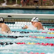 15 October 2015 - The San Diego State Aztecs Women's Swim & Dive Team took on Oregon State and Vanderbilt at the Aztec Aquaplex. 200 yard Medley Relay Heat 1 Lane 7