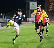 Dundee&rsquo;s Faissal El Bakhtaoui and Partick Thistle's Steven Lawless  - Dundee v Partick Thistle in the Ladbrokes Scottish Premiership at Dens Park, Dundee.Photo: David Young<br /> <br />  - &copy; David Young - www.davidyoungphoto.co.uk - email: davidyoungphoto@gmail.com
