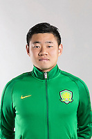 Portrait of Chinese soccer player Li Hanbo of Beijing Sinobo Guoan F.C. for the 2017 Chinese Football Association Super League, in Benahavis, Marbella, Spain, 18 February 2017.
