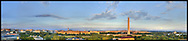 Panoramic View of Washington, DC.  Includes The Capitol, Washington Monument, Smithsonian Mall, The White House, among other Washington, DC landmarks and Washington, DC Monuments..Print Sizes (inches): 15x3.5; 24x5.5; 36x8; 48x10.5; 60x13; 72x18