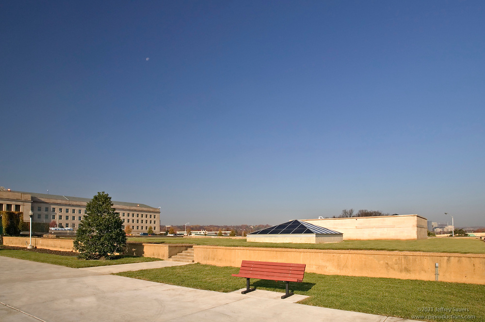 Exterior photography of the grounds at the Pentagon in Arlington VA for construction company