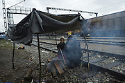 March 13, 2016 - Idomeni, Greece - <br /> <br />  More than 15,000 people are still stuck on the border between Greece and Macedonia, after the decision to close the borders until you find an agreement between Europe and Turkey. In the refugee camp, there are many who speak of the possibility of passing through Albania to Italy or Kosovo, and then continue the journey to the north. Idomeni, Greece. March 13, 2016.<br /> ©Exclusivepix Media
