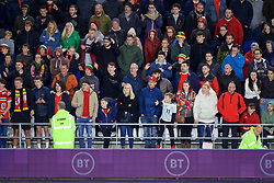 CARDIFF, WALES - Sunday, October 13, 2019: Wales supporters during the UEFA Euro 2020 Qualifying Group E match between Wales and Croatia at the Cardiff City Stadium. (Pic by Paul Greenwood/Propaganda)