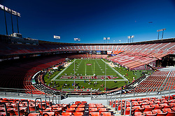 September 20, 2010; San Francisco, CA, USA;  General view of Candlestick Park with stands marked in honor of the Jerry Rice (not pictured) jersey retirement ceremony before the game between the San Francisco 49ers and the New Orleans Saints.