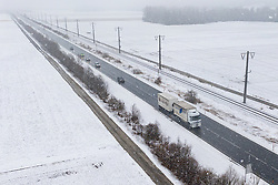 THEMENBILD - Witterung- und Neuschneesituation entlang der B100 bei Lengholz im kärntner Drautal. Lengholz, Österreich am {Montag, 18. März 2019 // Weather and fresh snow conditions along the B100 near Lengholz in the Carinthian Drau Valley. Monday, March 18, 2019 in Lengholz, Austria. EXPA Pictures © 2019, PhotoCredit: EXPA/ Johann Groder