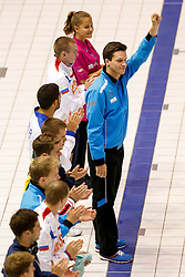 Eventual winner Patrick Hausding of Germany is introduced before the Mens 1m Springboard Final - Photo mandatory by-line: Rogan Thomson/JMP - 07966 386802 - 19/08/2014 - SPORT - DIVING - Berlin, Germany - SSE im Europa-Sportpark - 32nd LEN European Swimming Championships 2014 - Day 7.