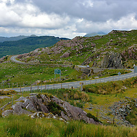 Winding Road at Moll's Gap along the Ring of Kerry, Ireland<br />