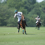 Peter Brant, White Birch, in action during the White Birch Vs K.I.G Polo match in the Butler Handicap Tournament match at the Greenwich Polo Club. White Birch won the game 11-8. Greenwich Polo Club,  Greenwich, Connecticut, USA. 12th July 2015. Photo Tim Clayton