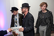 Sam stewart; Dave Stewart: Django Stewart, Piccadilly theatre's Ghost The Musical Opening night party. Corinthia Hotel. Whitehall Place. London. 19 July 2011. <br /> <br />  , -DO NOT ARCHIVE-© Copyright Photograph by Dafydd Jones. 248 Clapham Rd. London SW9 0PZ. Tel 0207 820 0771. www.dafjones.com.