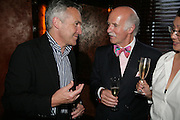 Stephen Bayley and Anton Mosimann PJ's Annual Polo Party . Annual Pre-Polo party that celebrates the start of the 2007 Polo season.  PJ's Bar & Grill, 52 Fulham Road, London, SW3. 14 May 2007. <br />  -DO NOT ARCHIVE-© Copyright Photograph by Dafydd Jones. 248 Clapham Rd. London SW9 0PZ. Tel 0207 820 0771. www.dafjones.com.
