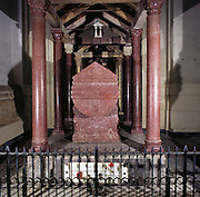 Palermo, the cathedral, tomb of the emperor Frederick II.<br /> Cattedrale di Palermo, tomba dell'imperatore Federico II
