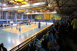 Sports hall Kamnik during 3rd Leg volleyball match between OK Calcit Volley and Salonit Anhovo in Semifinal of 1. DOL Slovenian National Championship 2017/18, on April 15, 2018 in Sports hall Kamnik, Kamnik, Slovenia. Photo by Urban Urbanc / Sportida
