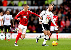 Johnny Russell of Derby County goes past Thomas Lam of Nottingham Forest - Mandatory by-line: Robbie Stephenson/JMP - 11/12/2016 - FOOTBALL - iPro Stadium - Derby, England - Derby County v Nottingham Forest - Sky Bet Championship