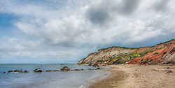 The Aquinnah cliffs at mid day.