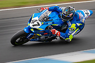 Wayne Maxwell (47) riding for Team Suzuki ECSTAR in Q1 during round 6 of the Australian Superbike Championship on October 05, 2019 at Phillip Island Circuit, Victoria. (Image Dave Hewison/ Speed Media)