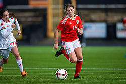 MERTHYR, WALES - Thursday, February 16, 2017: Wales' Cassia Pike in action during a Women's Under-17's International Friendly match at Penydarren Park. (Pic by Laura Malkin/Propaganda)
