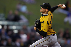 27May2011: Starting pitcher Brendon Malkowski  during a game between the Southern Illinois Miners and the Normal Cornbelters at the Corn Crib in Normal Illinois.