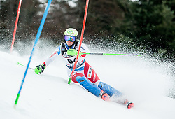 "Carole Bissig (SUI) competes during 1st Run of FIS Alpine Ski World Cup 2017/18 Ladies' Slalom race named ""Snow Queen Trophy 2018"", on January 3, 2018 in Course Crveni Spust at Sljeme hill, Zagreb, Croatia. Photo by Vid Ponikvar / Sportida"