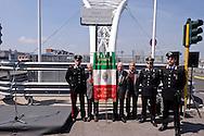 Roma 15 Aprile 2015<br /> Cerimonia di ricollocazione della targa, che intitola il ponte di Via Ostiense a Settimia Spizzichino,( Roma, 15 aprile 1921 &ndash; Roma, 3 luglio 2000), reduce della Shoah e unica donna sopravvissuta al rastrellamento del ghetto di Roma il 16 ottobre 1943.<br /> Rome April 15, 2015<br /> Ceremony placement of the plate that's called the bridge of  Via Ostiense in Settimia Spizzichino, (Rome, April 15, 1921 - Rome, 3 July 2000), survivor of the Holocaust and only woman survived the roundup of the ghetto of Rome October 16,1943.