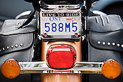 Harley Davidson Road King Classic motorcycle with 88 cubic inches twin cam engine, Miami, Florida