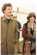 George Osborne; Lady Osborne. Oxford University  ( Bullingdon ) Point to Point. Kingston Blount. 1 Feb 1997. ONE TIME USE ONLY - DO NOT ARCHIVE  © Copyright Photograph by Dafydd Jones 248 clapham Rd. London Sw9 0PZ. 0207 820 0771 www.dafjones.com