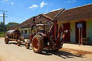 Tractor in San Felipe, Mayabeque Province, Cuba.