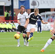 St Johnstone&rsquo;s Chris Millar can\t stop Dundee's Greg Stewart - Dundee v St Johnstone at Dens Park <br /> - Ladbrokes Premiership<br /> <br />  - &copy; David Young - www.davidyoungphoto.co.uk - email: davidyoungphoto@gmail.com