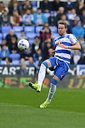 Reading's Chris Gunter controls the ball during the Sky Bet Championship match between Reading and Charlton Athletic at the Madejski Stadium, Reading, England on 17 October 2015. Photo by Mark Davies.