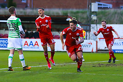 Billy Kee of Accrington Stanley celebrates scoring a goal to make it 2-0 - Mandatory by-line: Robbie Stephenson/JMP - 17/04/2018 - FOOTBALL - Wham Stadium - Accrington, England - Accrington Stanley v Yeovil Town - Sky Bet League Two