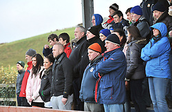 Hardy Weather for Cup Rugby,.Supporters at the Junior cup round 2 match between Westport and  Ballinasloe at Carrowhooly on sunday..Pic Conor McKeown