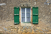 Typical French architecture in Montignac in the Dordogne France