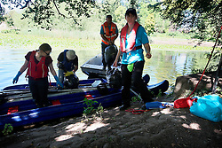 UK ENGLAND LEICESTER 30JUN15 - Volunteers collect rubbish from the river Soar at Leicester city.<br /> <br /> jre/Photo by Jiri Rezac / WWF UK<br /> <br /> © Jiri Rezac 2015