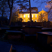 Bronte Parsonage in Haworth, at dawn.