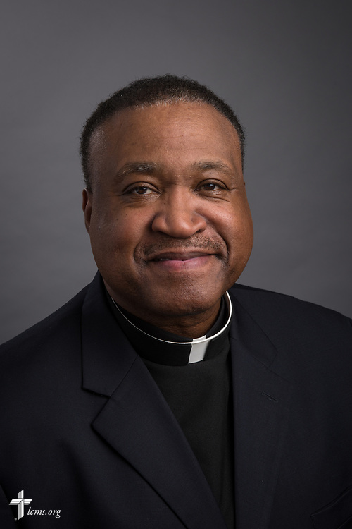 Headshot photograph of the Rev. Dr. Roosevelt Gray Jr, director of LCMS Black Ministry, on Tuesday, June 13, 2016, at the International Center of The Lutheran Church–Missouri Synod in St. Louis. LCMS Communications/Erik M. Lunsford