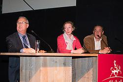 Panel : bernard Morel, Nathalie Zu Sayn Wittgenstein, Michael Klimke<br /> Global Dressage Forum<br /> Academy Bartels - Hooge Mierden 2013<br /> © Dirk Caremans