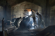 Mannequin models recreate battle scene inside Pendennis castle, Falmouth, Cornwall, England, UK