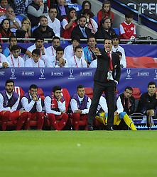 Sevilla Manager, Unai Emery Etxegoien - Photo mandatory by-line: Joe Meredith/JMP - Mobile: 07966 386802 12/08/2014 - SPORT - FOOTBALL - Cardiff - Cardiff City Stadium - Real Madrid v Sevilla - UEFA Super Cup