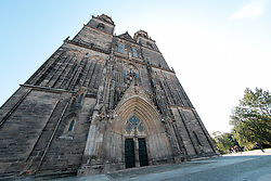 THEMENBILD - Der Magdeburger Dom ist Bischofskirche der Evangelischen Kirche in Mitteldeutschland und als evangelische Pfarrkirche zugleich das Wahrzeichen der Stadt. Der Dom ist das älteste Bauwerk der Gotik auf deutschem Boden. Magdeburg, Deutschland am 23 August 2015 // Magdeburg Cathedral, officially called the Cathedral of Saints Catherine and Maurice, is a Protestant cathedral in Germany and the oldest Gothic cathedral in the country. It is the proto-cathedral of the former Prince-Archbishopric of Magdeburg. Today it's the principal church of the Evangelical Church in Central Germany. Magdeburg, Germany on 2015/08/23. EXPA Pictures © 2015, PhotoCredit: EXPA/ Eibner-Pressefoto/ Deutzmann<br /> <br /> *****ATTENTION - OUT of GER*****