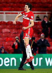 George Friend of Middlesbrough celebrates his side's win over Leeds United - Mandatory by-line: Robbie Stephenson/JMP - 02/03/2018 - FOOTBALL - Riverside Stadium - Middlesbrough, England - Middlesbrough v Leeds United - Sky Bet Championship