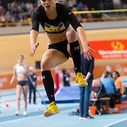 NLD/Apeldoorn/20180217 - NK Indoor Athletiek 2018, verspringen dames, Priscilla van Oorschot