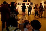 San Antonio, Texas. October 2011. 'BURN-ed Garden' opening reception, Smartart Project Space.