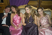 RICHARD DENNEN, MARIA-TERESA FRERING, TANSY ASPINALL AND LADY TATIANA MOUNTBATTEN. Crillon Debutante Ball 2007,  Crillon Hotel Paris. 24 November 2007. -DO NOT ARCHIVE-© Copyright Photograph by Dafydd Jones. 248 Clapham Rd. London SW9 0PZ. Tel 0207 820 0771. www.dafjones.com.