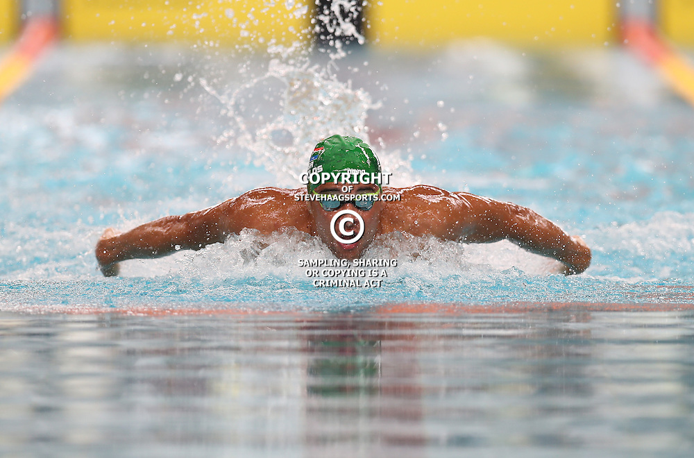 DURBAN, SOUTH AFRICA - FEBRUARY 05: Chad Le Clos  Men 100 LC Meter Butterfly during day 2 of The 2017 Grand Prix No.4 Invitational swimming meet at Kings Park Swimming Pool on February 05, 2017 in Durban, South Africa. (Photo by Steve Haag/Gallo Images)