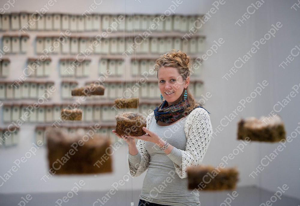 Eileen Hutton, being in the land, a sculptural investigation of Ecology at the Burren College of Art.  Pic: Sean Curtin Press 22.