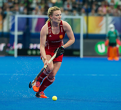 England's Hollie Webb. England v The Netherlands - Final Unibet EuroHockey Championships, Lee Valley Hockey & Tennis Centre, London, UK on 30 August 2015. Photo: Simon Parker